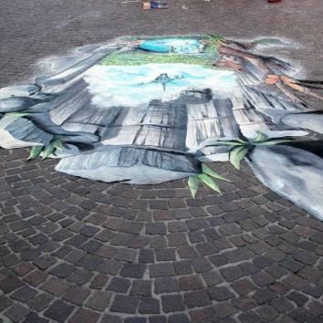 Chalk and tempera 4x3 mt