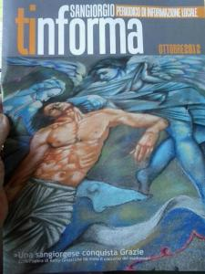 Cover of the journal 'Tinforma' dedicated to my painting that won the 40th edition of the competition of Madonnari in Grazie di Curtatone, in the Masters category Madonnari.