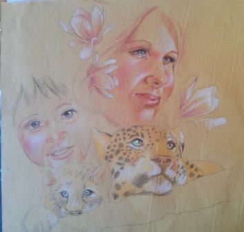 """""""The Mother's eyes"""" Sketch for Houston ViaColori"""