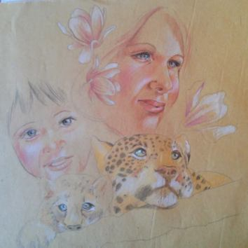 """The Mother's eyes"" Sketch for Houston ViaColori"