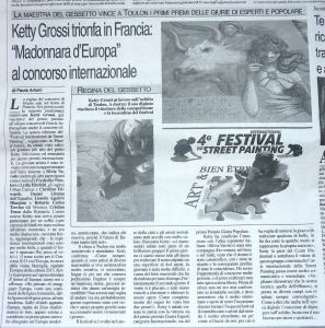 Article on Voce di Mantova , on my experience in Toulon.