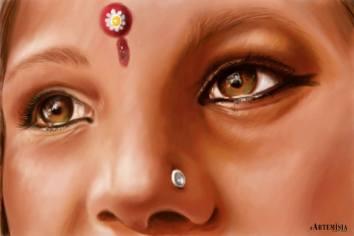 Indian girls 30x45 Digital Paint