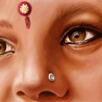 Indian girls 30x45 Digital Paint