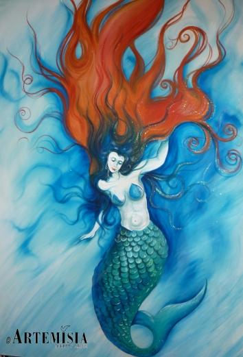'Sirena' Acrilyc on canvas. 'Sirena' Acrilico su tela
