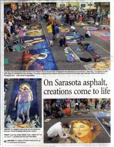 Herald Tribune - Sarasota Chalk Festival 2011