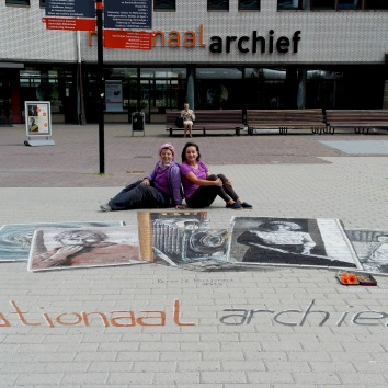 Work performed with Valentina Sforzini for Nationaal Archief in the Hague ( Den Haag ) ( http://www.gahetna.nl/en ) - Nederland- Project that combines the chalk paint in 2D photos on display in the exhibition and the old camera in 3D. Thank you for this special Project Organizer Peter Westerink http://www.planetstreetpainting.com/