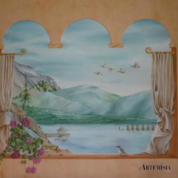 Trompe l'oeil - Lake landscape