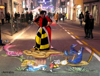 """3D paint - By Ketty Grossi e Lorena Barbieri mt 4x4 Tribute to """"Alice in Wonderland.....and me....at Queen of Heart!!!"""""""