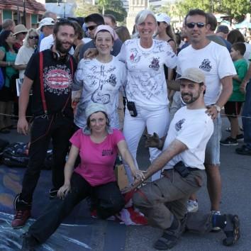 Italy team in Sarasota chalk Festival