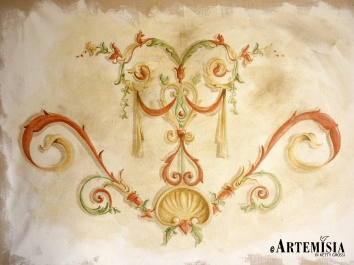 Fresco on canvas.