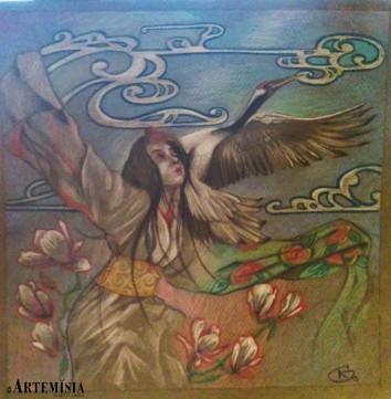 Personal paint: Toulon 2015 - 'Tsurunoongaeshi' - 'The gratitude of the crane'