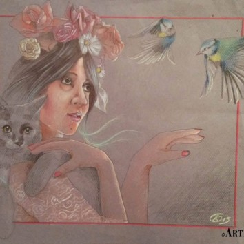 "Whilelmshaven StreetArt Festival ""Mother Nature"" Thank'you Maria Francesca Focarelli Barone, my model!!!"
