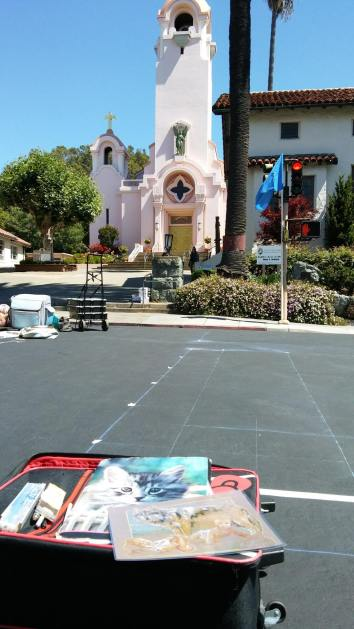 My square in San Rafael, near The Mission!!